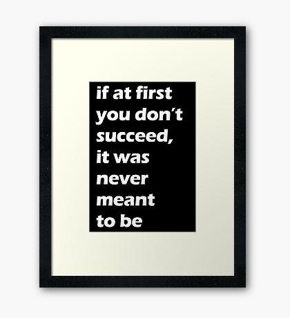 Success - White Framed Print