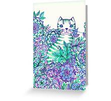 Garden Cat Doodle Greeting Card