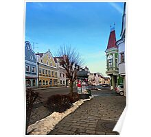 Pictoresque traditional village center | architectural photography Poster
