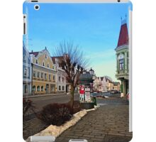 Pictoresque traditional village center | architectural photography iPad Case/Skin