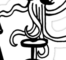 Unicycle Octopus Sticker