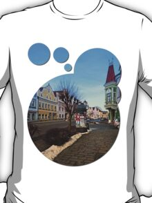 Pictoresque traditional village center   architectural photography T-Shirt