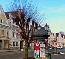 Pictoresque traditional village center | architectural photography Sticker
