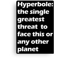 Hyperbole - White Canvas Print