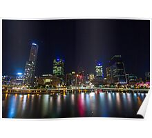 Lights of Brisbane City Poster