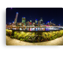 Bikes in the City Canvas Print