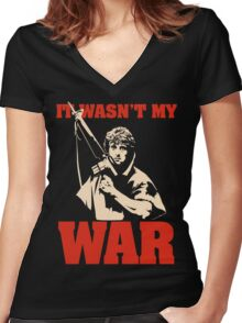 It Wasn't My War (Rambo) Women's Fitted V-Neck T-Shirt