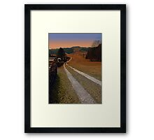 Scenery and a pathway into dawn | landscape photography Framed Print