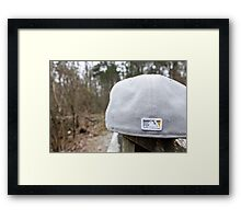 Flat Cap Framed Print