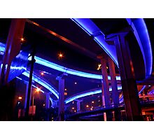 Night, Puxi Viaduct, Shanghai, China Photographic Print