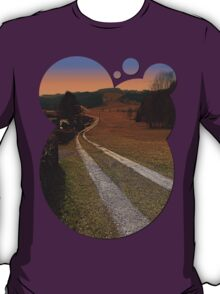 Scenery and a pathway into dawn | landscape photography T-Shirt
