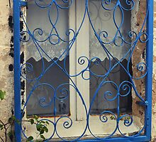 blue window in bodrum by gzmguvenc89