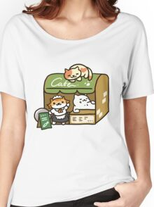 Tubbs at the Cafe - Neko Atsume Women's Relaxed Fit T-Shirt