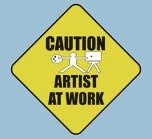 artist at work sign One Piece - Short Sleeve