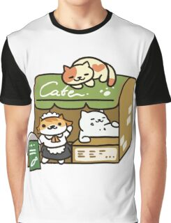 Tubbs at the Cafe - Neko Atsume Graphic T-Shirt