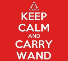 KEEP CALM and CARRY WAND by teezie