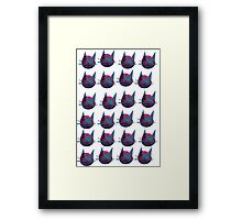 Meow Kitty Cat Army Collage Framed Print