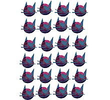 Meow Kitty Cat Army Collage Photographic Print