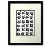 Black And White Kitty Cat Collage Framed Print