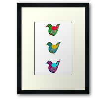 Trio Of Little Birdies Framed Print