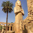 Pharaoh Statue, Karnak Temple, Luxor by Ludwig Wagner