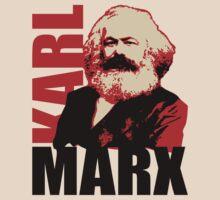 Communist Karl Marx Portrait by TropicalToad