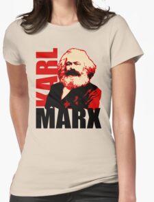 Communist Karl Marx Portrait Womens Fitted T-Shirt