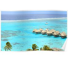 Coral Reef View - Moorea Island Poster
