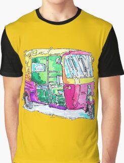 Tuk Tuk Purple Auto Rickshaw Graphic T-Shirt