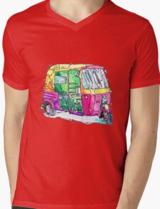 Tuk Tuk Purple Auto Rickshaw Mens V-Neck T-Shirt