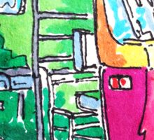 Tuk Tuk Purple Auto Rickshaw Sticker