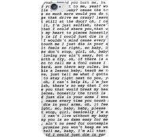die in your arms lyrics justin bieber iPhone Case/Skin