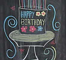 Chalkboard Happy Birthday! by Pixie-Atelier