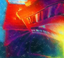 Descending the Stardust Stairway by RC deWinter