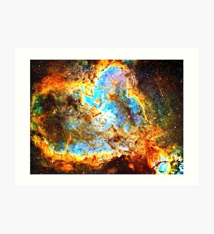 Pi Symbol 3.14 [Heart and Soul Nebula] | Mathematix Art Print