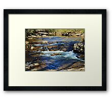 A Lazy Day at the Creek Framed Print