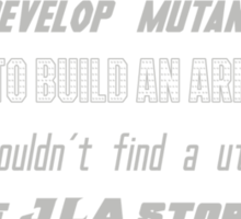 Superhero Mashup - X-Men, Avengers, Justice League Sticker
