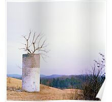 Tree in a Silo in January Poster