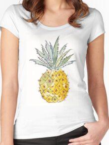 Pineapple pleasure Women's Fitted Scoop T-Shirt