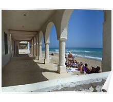 Abandoned Beach Houses. Poster