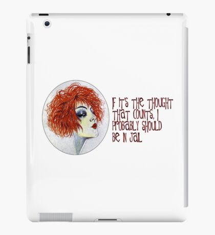 If It's the Thought that Counts... iPad Case/Skin