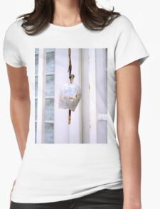 white bell Womens Fitted T-Shirt