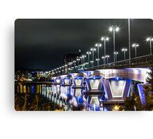 Bridge at night Canvas Print