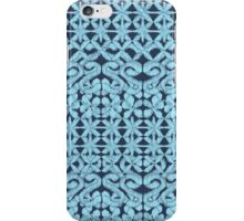 Ikat Lace in Pale Blue on Navy iPhone Case/Skin
