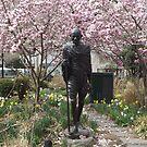 Gandhi Statue, Spring Colors, Union Square, New York City by lenspiro