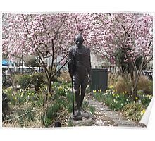 Gandhi Statue, Spring Colors, Union Square, New York City Poster