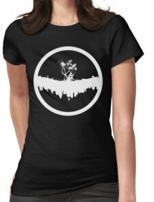 Urban Faun - White on Black Womens Fitted T-Shirt