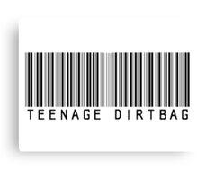 Teenage Dirtbag Barcode Canvas Print