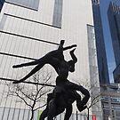 Sculpture, Columbus Circle, New York City by lenspiro