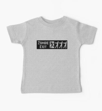 ZOMBIE EXIT SIGN by Zombie Ghetto Baby Tee